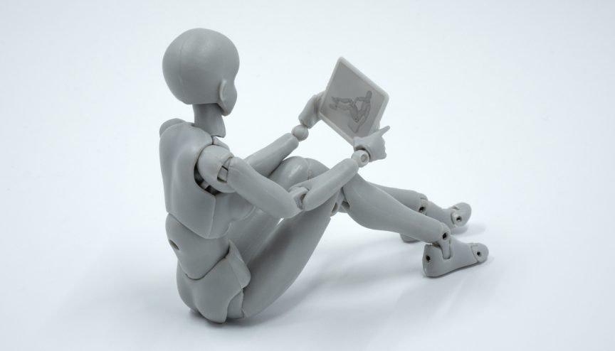 A model crash test dummy on Skype